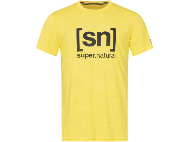 super.natural Logo Koszulka Mężczyźni, aurora melange/jet black logo